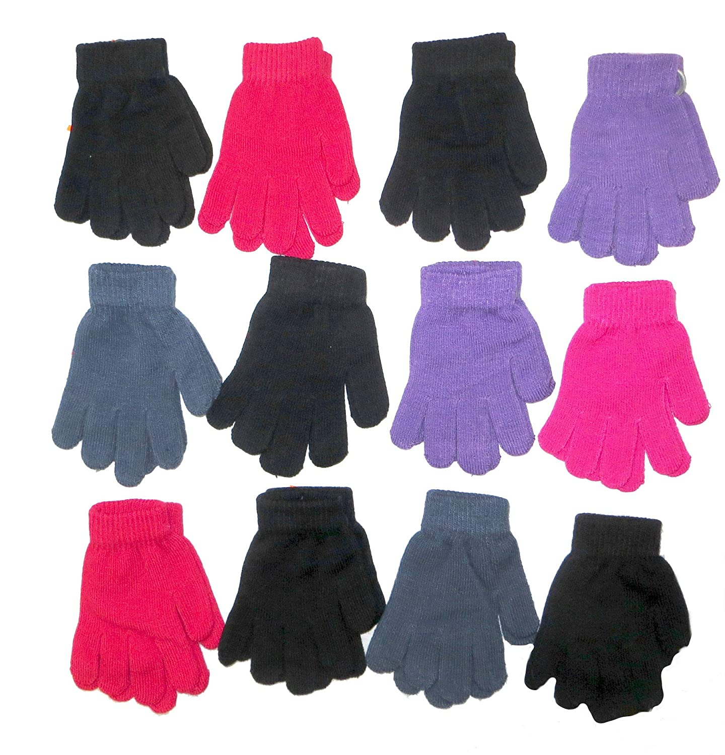 12 Pairs Kids Magic Gloves Several Colours RJM