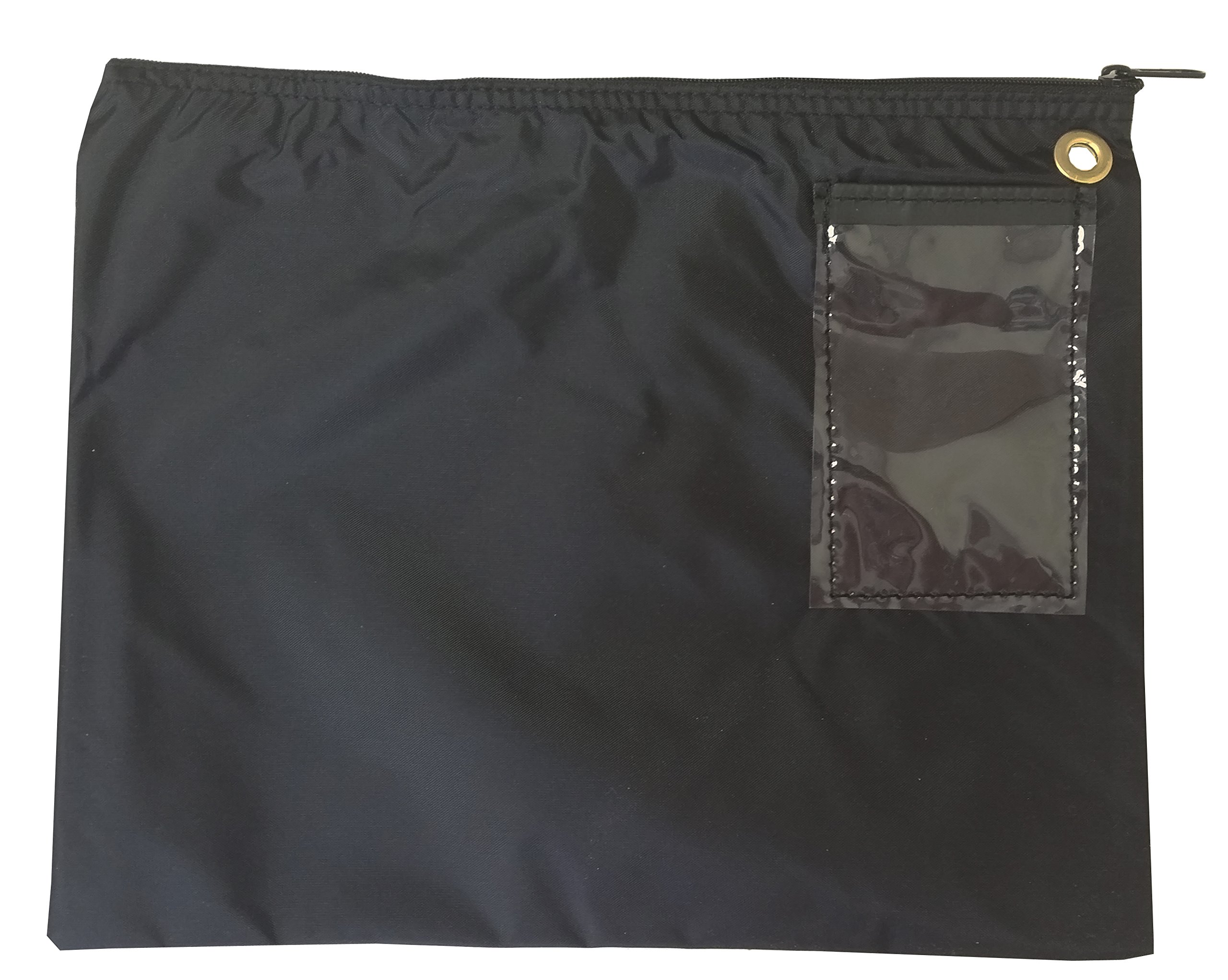 Interoffice Mailer 200 Denier Transit Sack Zipper Bag Black (18x14)