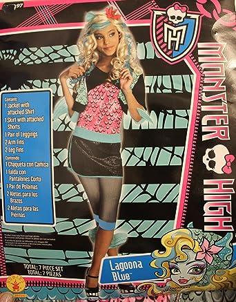 Monster High Lagoona Blue Kostuem.Amazon Com Monster High Lagoona Blue Costume M 8 10 Clothing