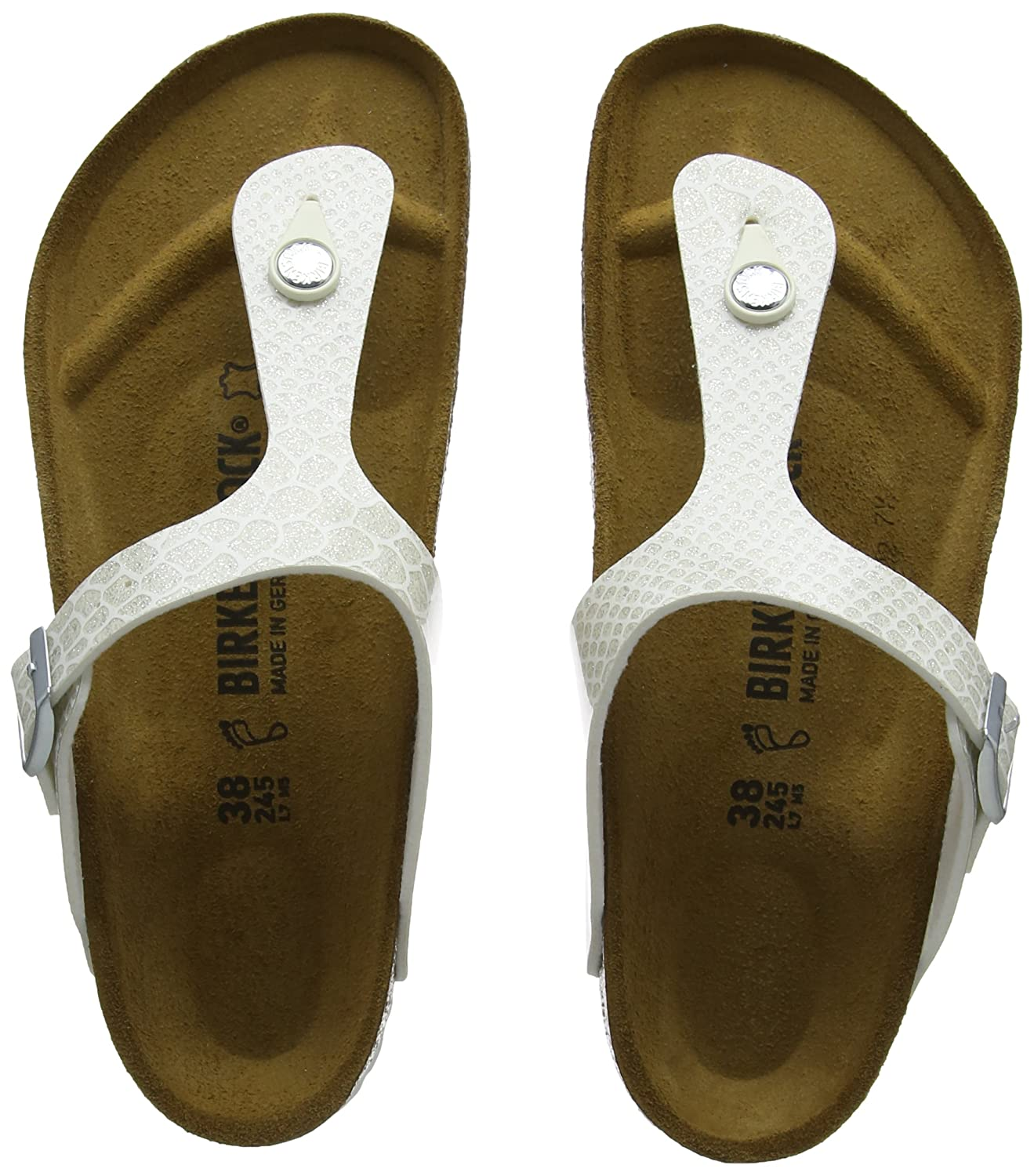Birkenstock Gizeh Magic Snake Rose Birko-Flor Flat Sandals B074M9QNMF 40 M EU|White