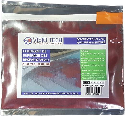 VISIO TECH Colorante de localización rojo 50 g, polvo soluble en agua