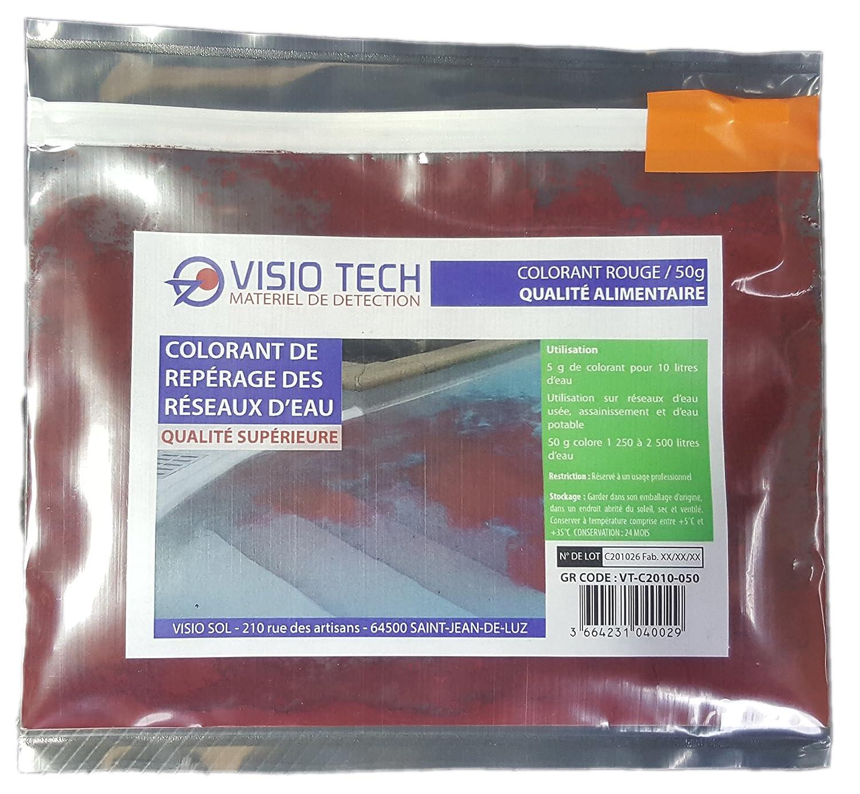 VISIO TECH Colorant de repé rage ROUGE 50g, poudre soluble dans l'eau poudre soluble dans l' eau