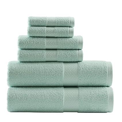 Amazon Com Tommy Bahama Cypress 6 Piece Towel Set Pelican Gray