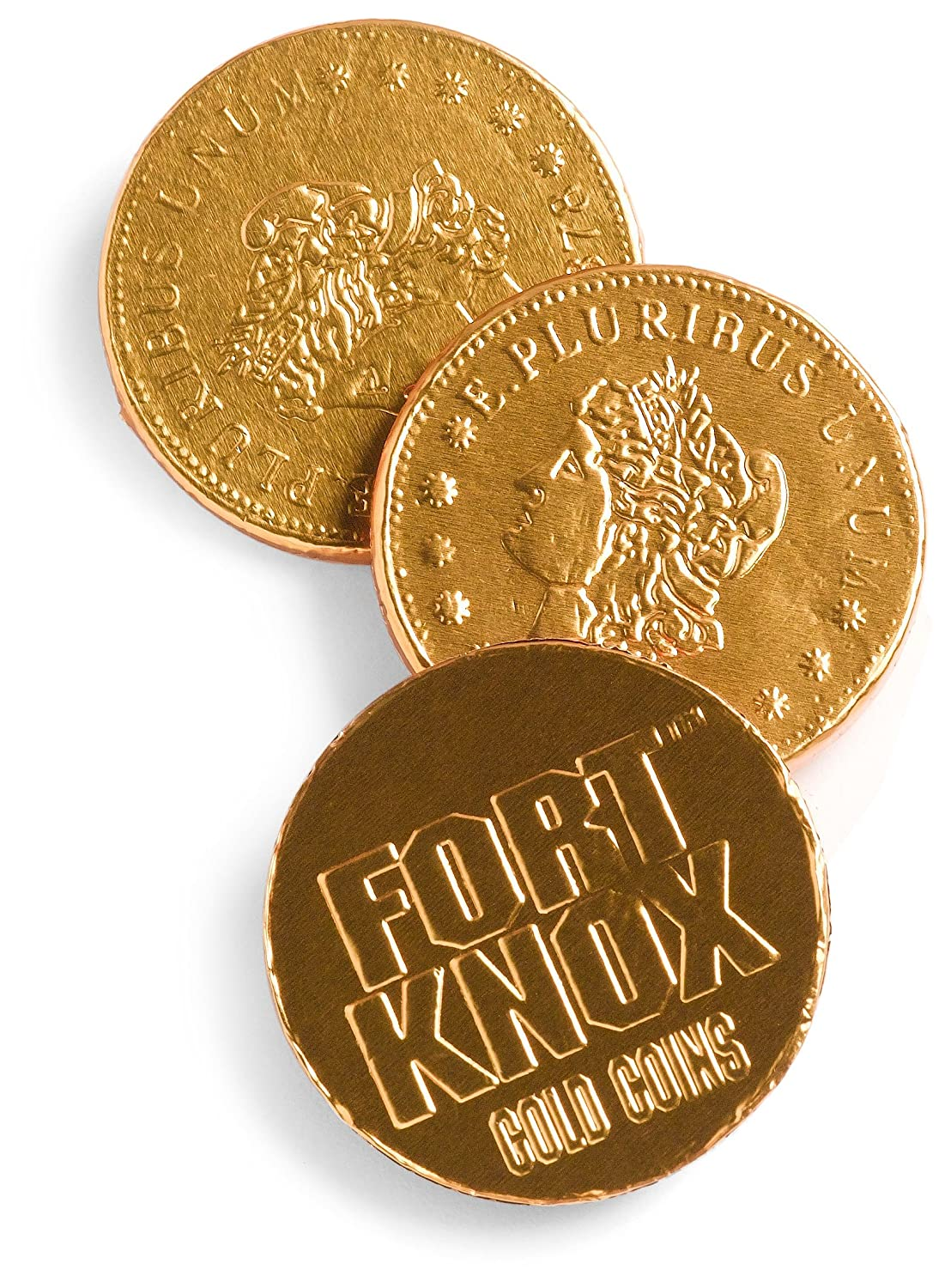 Amazon.com : Fort Knox Milk Chocolate Gold Coins, 1.61-Pounds, 144 ...