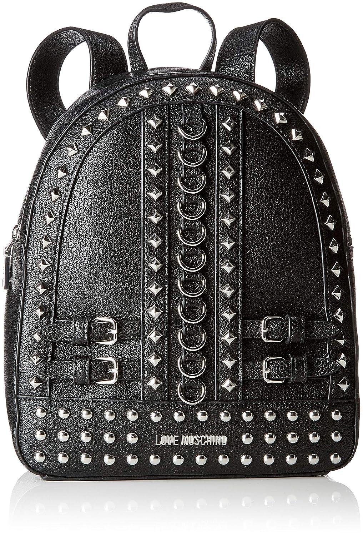 Love Moschino Borsa Pebble Grain Pu, Sacs porté s dos Sacs portés dos femme Noir (Nero) 10x28x23 cm (B x H T) JC4318PP06KV0