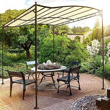 garden pavilion. Miadomodo Metal Garden Pavilion Beige 3 X 2.5 M