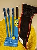 Cricket Crazy Cricket Set Starter Set Size 3 - Blue or Yellow (Bats,Stumps,Ball)+Clearance++