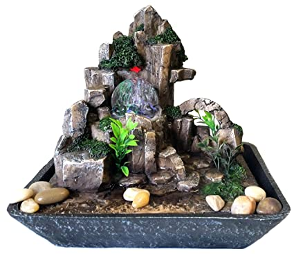 Fontane Zen Vendita.Fontana Zen Feng Shui In Poliresina Con Led Luminosi