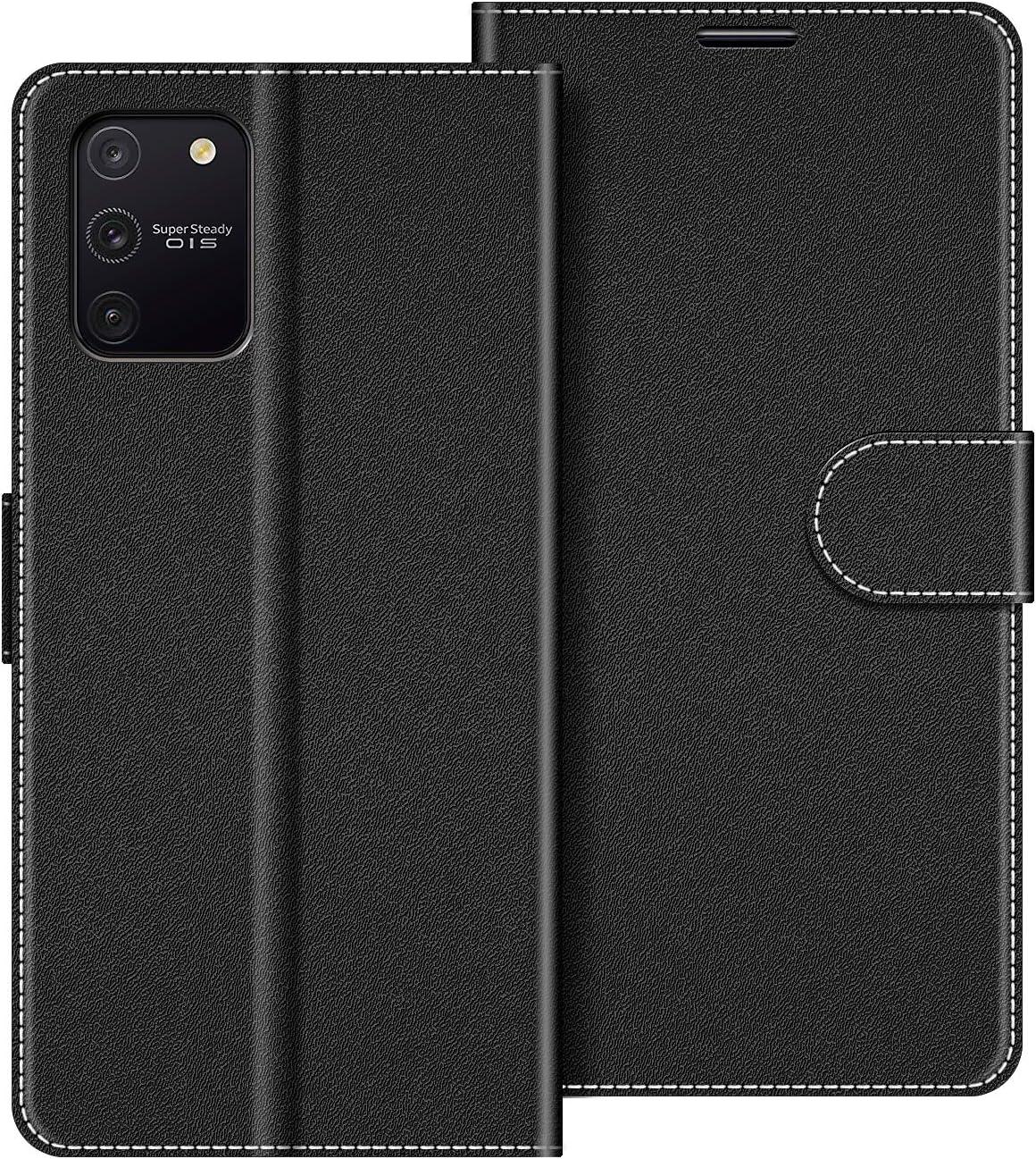 Funda Movil Samsung Galaxy S10 Lite Funda Libro Samsung Galaxy S10 Lite Carcasa Magn/ético Funda para Samsung Galaxy S10 Lite COODIO Funda Samsung Galaxy S10 Lite con Tapa Negro