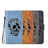 Xperia XZ Case,DAMONDY 3D Skull Stand Wallet