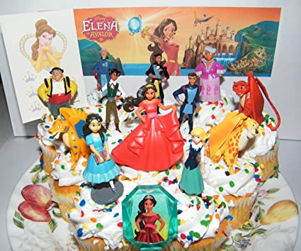 Disney Elena Of Avalor Deluxe Mini Cake Toppers Cupcake Decorations Set 14 With Figures