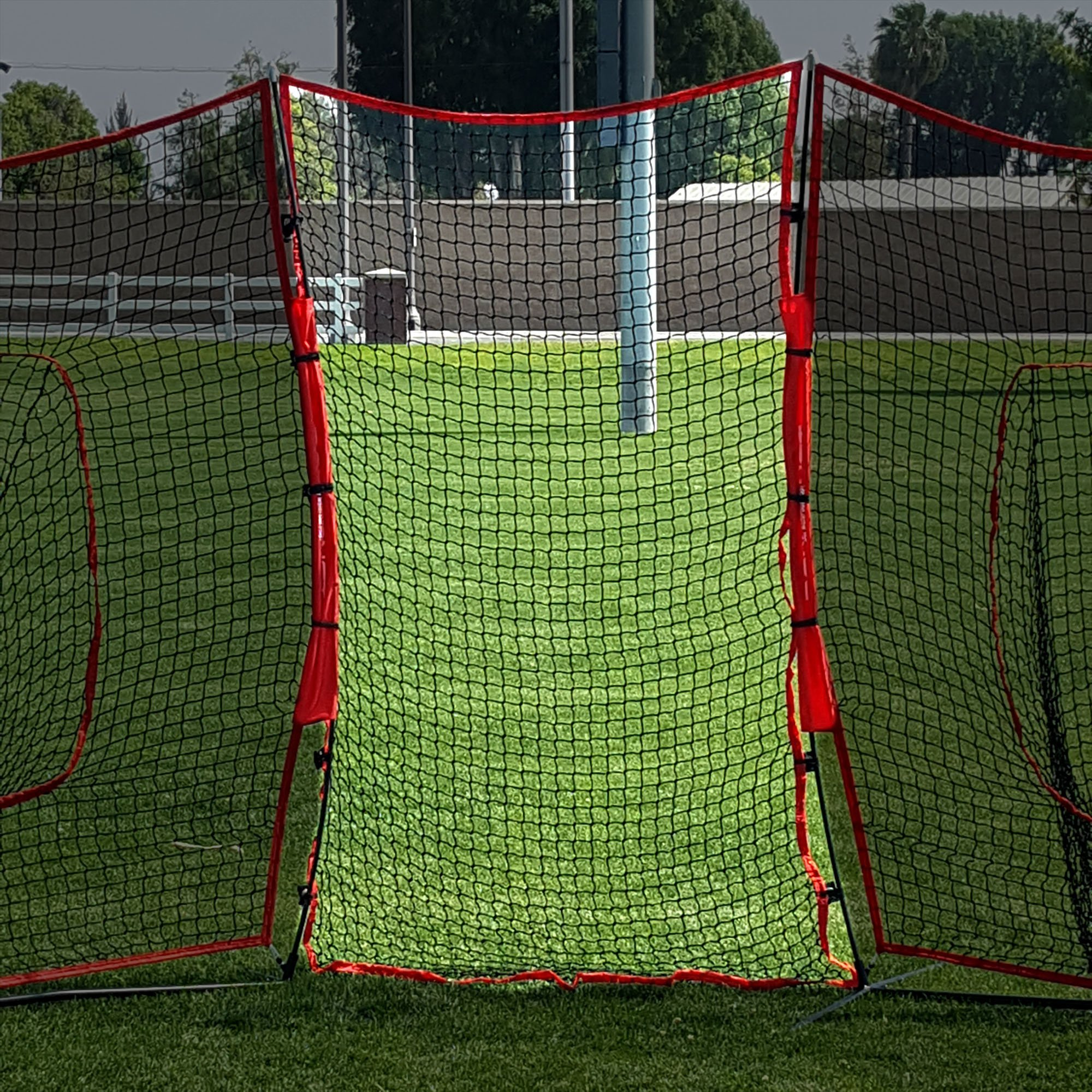 PowerNet Connector for 7x7 Barrier Nets (4x7 EXTENDER NET ONLY) | for Baseball and Lacrosse | 28 SQFT of Additional Protection | Safety Backstop | Portable EZ Setup | Durable Knotless Netting