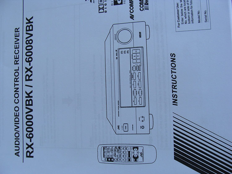 Amazon.com: JVC RX-6008V Dolby Digital / DTS Audio/Video Receiver ...