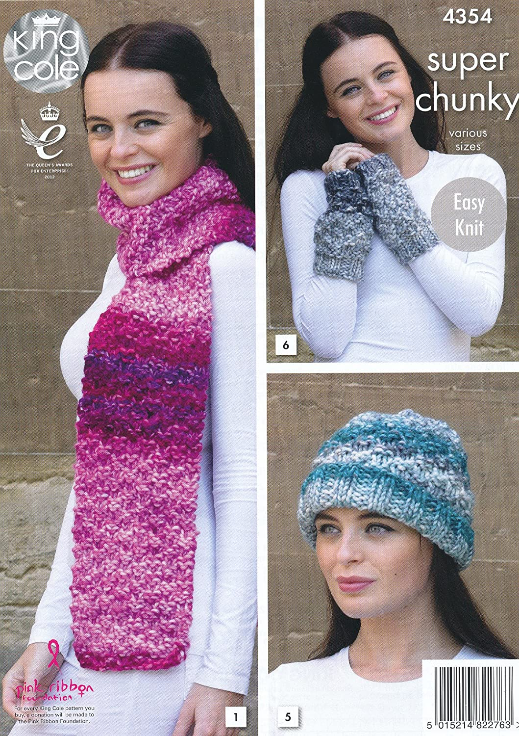King Cole Ladies Super Chunky Knitting Pattern Scarf Shoulder Wrap ...