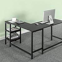 Zinus Urban Corner Home Office Desk Furniture with Shelves