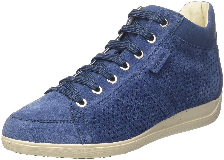 Geox D Myria B, Zapatillas Altas para Mujer 39 EU|Azul (Denim)