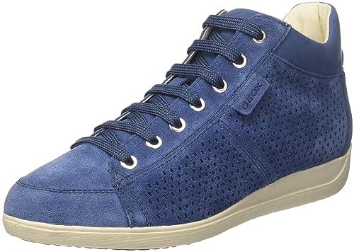 Geox D Myria B, Zapatillas para Mujer, Azul (Denim), 40 EU