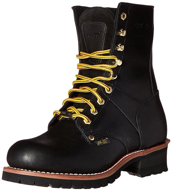 AdTec Mens 1428 9u0022 Steel Toe Logger Boot