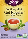 Yogi Herbal Tea Get Regular Caffeine Free Soothing Mint - 16 Tea Bags
