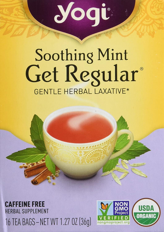 Yogi Herbal Tea Get Regular Caffeine Free Soothing Mint