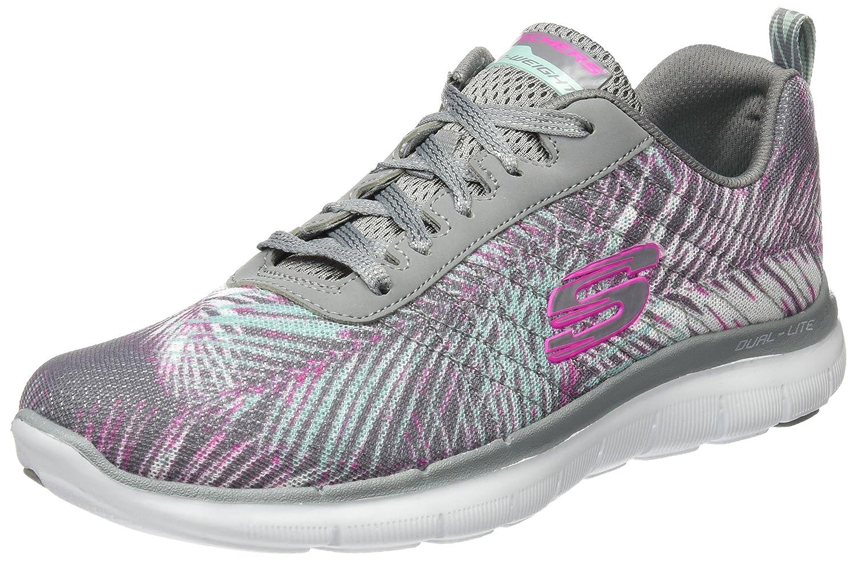 Skechers Flex Appeal 2.0-Tropical Bree, Zapatillas de Deporte Mujer, 35 EU|Gris (Gymt)