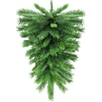 Northlight 30″ Mixed Pine Artificial Christmas Teardrop Swag - Unlit