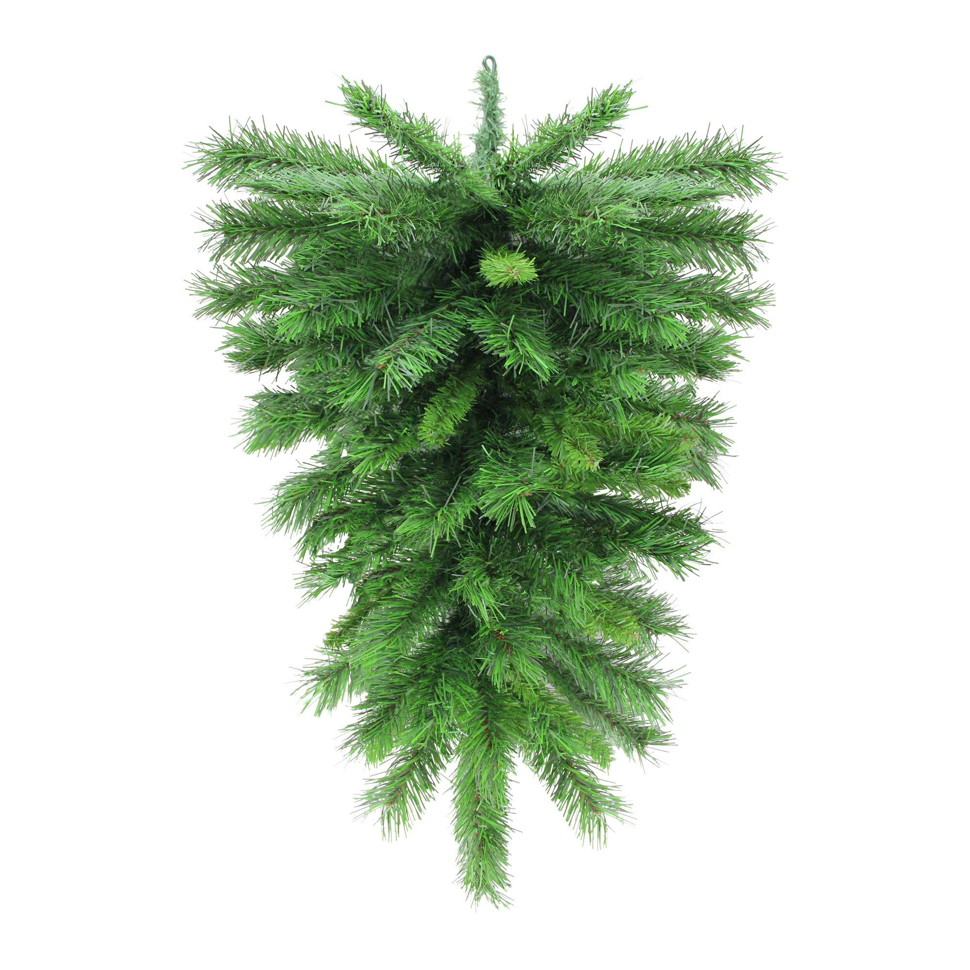 Northlight 30'' Mixed Green Pine Artificial Christmas Teardrop Swag - Unlit by Northlight