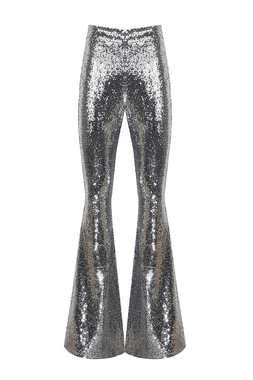 Amazon.com: AZZAVERA Brillante plata lentejuelas alta ...