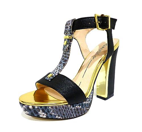 c889fd894078 64611 NERO Scarpa donna sandalo plateau Gaudì nero e pitonato  Amazon.it  Scarpe  e borse