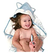 Organic Bamboo Baby Hooded Towel by Clover & Sage - Blue Fox
