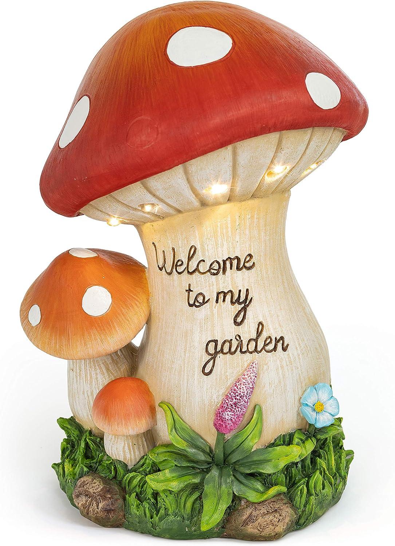 VP Home Welcome Mushroom Garden Solar Powered LED Outdoor Decor Light