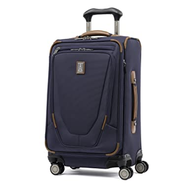 Travelpro Luggage Crew 11 21  Carry-on Expandable Spinner w/Suiter and USB Port, Patriot Blue