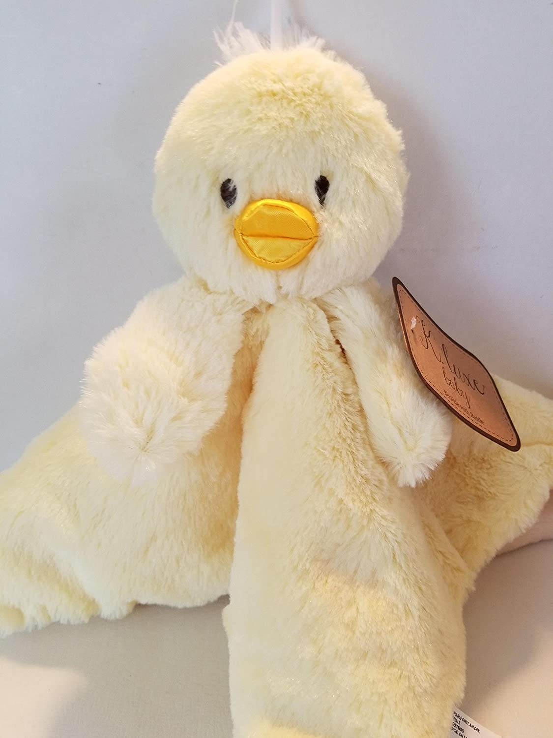 BABY DUCK BLANKIE with RATTLE by K.luxe baby Kellytoy SG/_B07B423XH8/_US