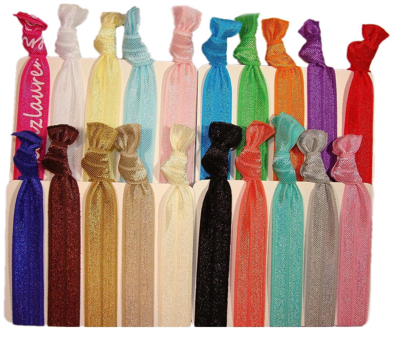 ribbon hair ties, multiple colors