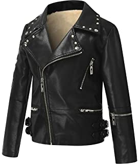 203dec48ace7 The Twins Dream Girls Leather Jacket Kids Leather Jackets Boys Motorcycle  Jacket Girls Coat