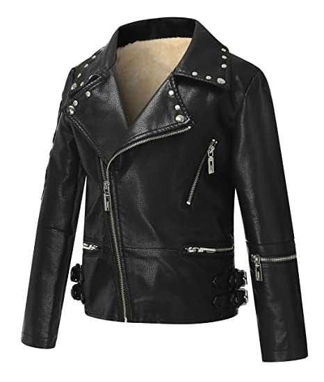 Amazon Com The Twins Dream Girls Leather Jacket Kids Leather
