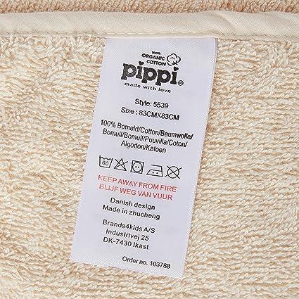 pippi Organic Bath Robe Salida de ba/ño para Beb/és
