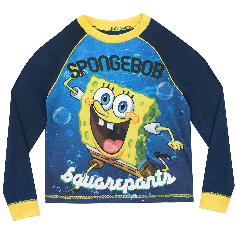 f61ab6a954 Bob Esponja Pijamas de Manga Larga para niños Spongebob Squarepants   Amazon.es  Ropa y accesorios