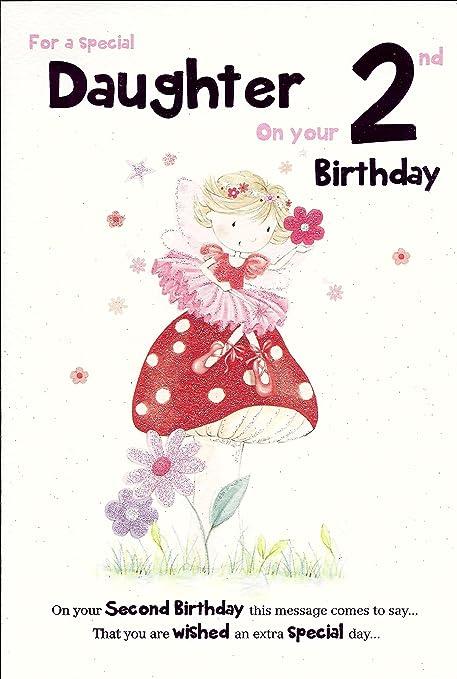 Para una hija especial en tu 2nd Tarjeta de cumpleaños ...