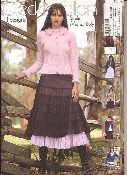 Amazon Cleckheaton 11 Designs In Studio Mohair 8ply Knitting