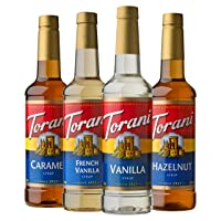 Torani Variety Pack Caramel, French Vanilla, Vanilla & Hazelnut, 25.4 Ounces (Pack...