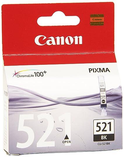 Canon CLI-521 Cartucho de tinta original Negro para Impresora de Inyeccion de tinta Pixma MX860-MX870-MP540-MP540x-MP550-MP560-MP620-MP620B-MP630-MP64...