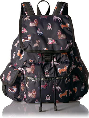 LeSportsac Womens 3 Zip Voyager Backpack Up and Away