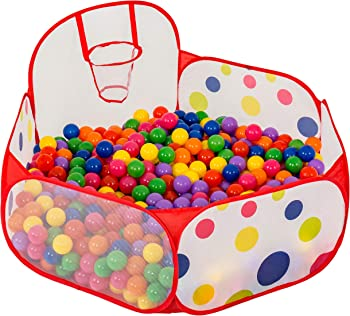 FoxPrint FoxPlay Basketball Ball Pit with Zippered Storage Bag