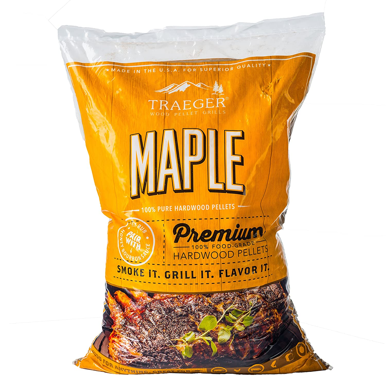 Traeger PEL308 Maple Barbecue Pellets, 20-Pound