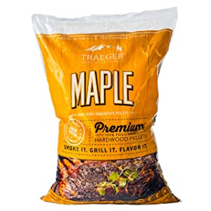 Traeger PEL308 32145 20Lb Maple Wood Pellets