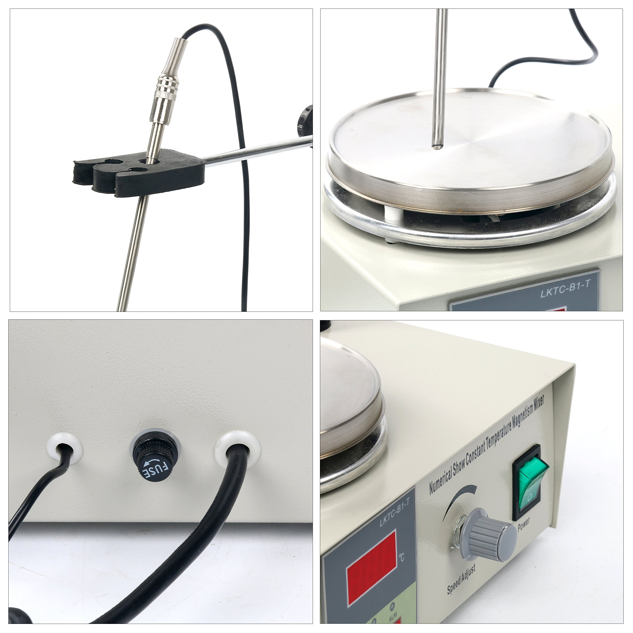 YaeCCC Magnetic Stirrer Hotplate with heating plate 85-2 Digital Magnetic mixer AC 110V by YaeCCC (Image #2)