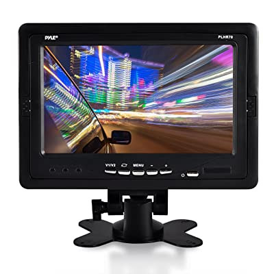 "Premium 7"" Inches Rearview Car LCD Monitor by Pyle – Parking Monitor Assistant with Wireless Remote Control – Full Color Wide Screen – Can Be Installed in Headrest Post (PLHR70): Car Electronics"