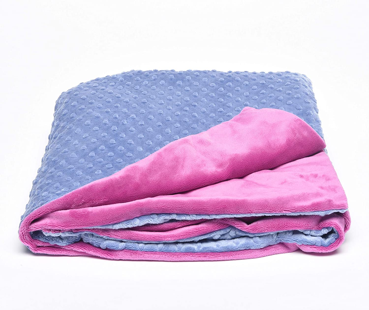 Creature Commforts Weighted Blanket for kids, adults - Sleep better - Great for ADHD, Autism, PTSD, Insomnia - Removable minky cover, organic insert - made in USA - - Small 4 lbs 25x30 Pink SI-CRCO-BL-S-R