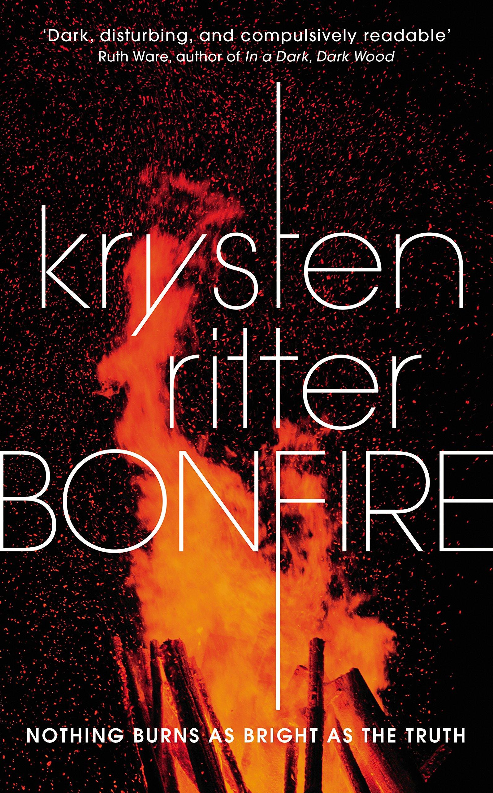 Book cover, Bonfire by Krysten Ritter